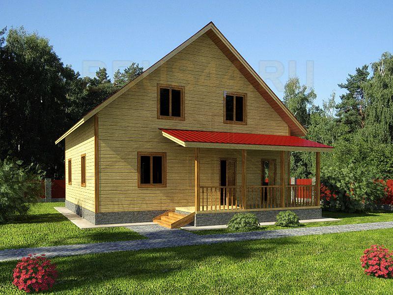 Проект дома из бруса ДБ-9